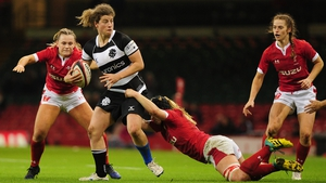 Jenny Murphy in action for the Barbarians