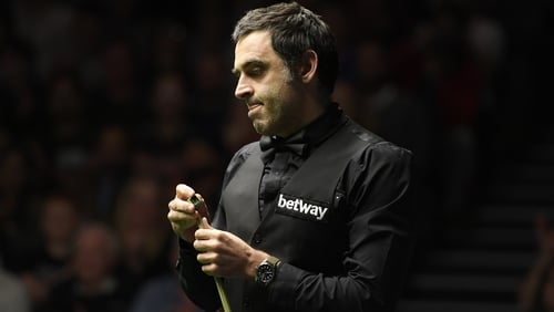 Ronnie O'Sullivan is into the third round of the UK Championship
