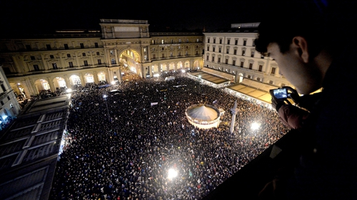 Organisers claimed that 40,000 people had turned out to the Florence protest