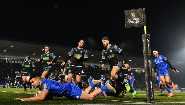 Cian Kelleher goes in for his second try