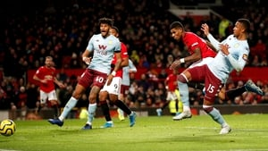 Manchester United's Marcus Rashford was on the mark