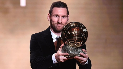 Leo Messi wins the award for the sixth time