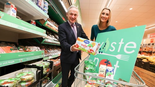Communications, Climate Action and the Environment Minister Richard Bruton along with Deirdre Ryan, Head of Corporate Social Responsibility at Lidl Ireland