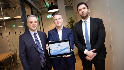 Mark Keenan, CEO of NeuronSpring, Paul Merriman, founder of ClearChoice and Paul Kelly, MD of ClearChoice
