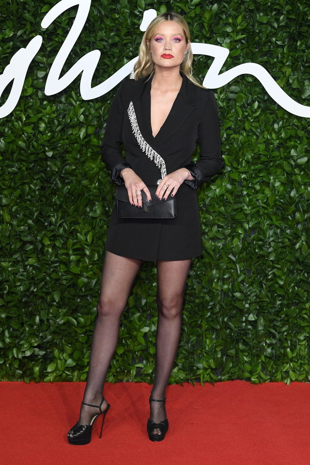 Laura Whitmore arrives at The Fashion Awards 2019