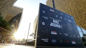 The Clash on Dunes Public Work Out at Public at the Investment Fund office complex on December 03, 2019 in Dubai, United Arab Emirates.
