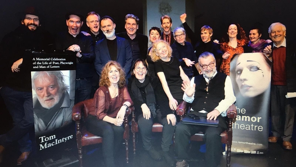 Friends and colleagues of the late, great Tom MacIntyre gather in the Ramor Theatre