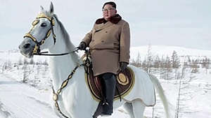 Kim Jong-un has recently takensymbolic horse rides on the country's sacred MtPaektu