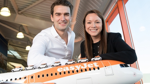 Andrew Middleton, EasyJet's Commercial Director and Aileen McCormack, Chief Commercial Officer at CarTrawler