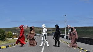 Members of the 501st Garrison Ireland Legion on patrol in Portmagee, Co Kerry during the May the Fourth Star Wars festival. Photo: Charles McQuillan/Getty Images