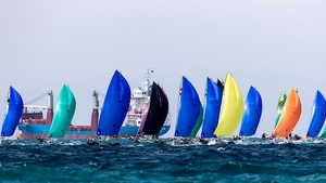 The fleet out on the water near Auckland