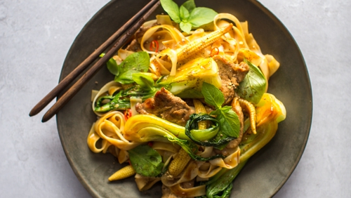 Even without the sore head, these aromatic spicy noodles will really hit the spot.