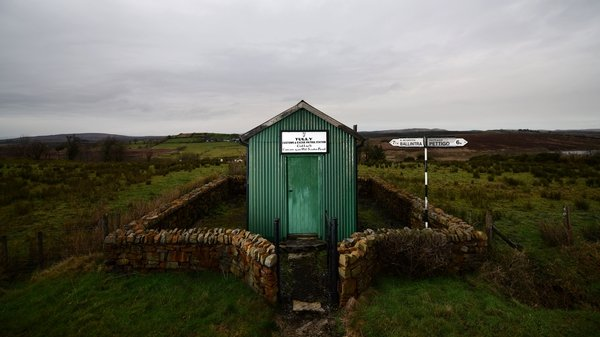 An old customs building at a border crossing in Co Donegal