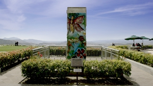 A piece of the Berlin Wall outside the Ronald Reagan Presidential Library in Simi Valley, California. Photo: Orjan F. Ellingvag/Dagens Naringsliv/Corbis via Getty Images
