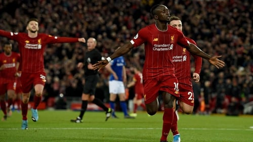 Sadio Mane was a thorn in the Everton side at Anfield