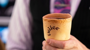 Air New Zealand has teamed up with a local company called Twiice, which produces the biscotti cups