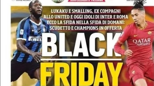 Corriere dello Sport double down on their front page
