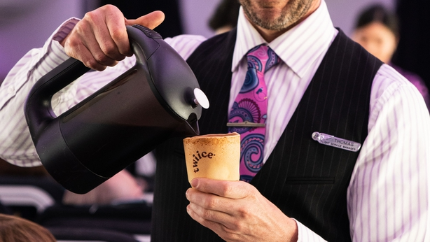 Air New Zealand is experimenting with edible coffee cups