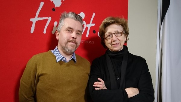 Poet Ross Thompson and Poetry Programme host Olivia O'Leary