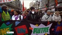 Hundreds of thousands take to the streets of France's major cities