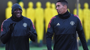 Romelu Lukaku (L) and Chris Smalling are former Manchester United team-mates