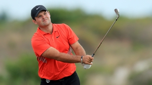 Patrick Reed in action in Nassau