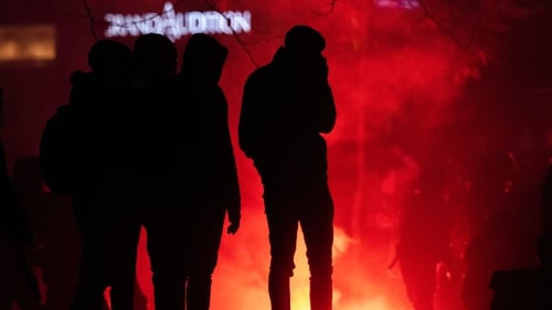 There were small groups of rioters among the predominantly peaceful protests