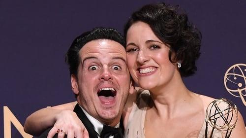 The happy couple: Andrew Scott and Phoebe Waller-Bridge