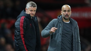 Ole Gunnar Solskjaer and Pep Guardiola - spending much more time with each other now