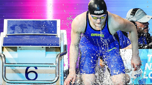 Mona McSharry set a new Irish record on her way to the final