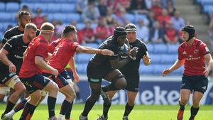 Maro Itoje goes on the charge against Munster in last year's Heineken Champions Cup semi-final