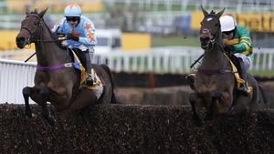 Un De Sceaux and Defi Du Seuil jump the last in the Tingle Creek almost in unison