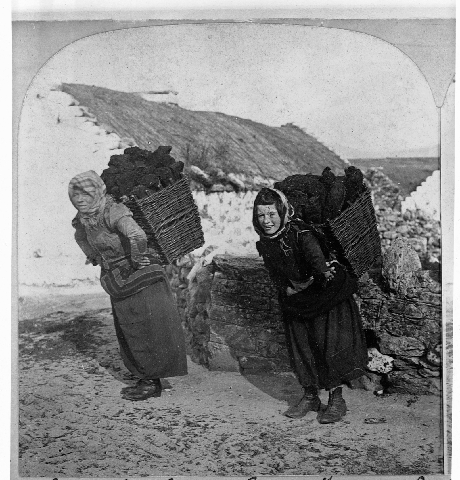Image - Bringing in the turf, Dooagh, Achill, 1903 (Pic: Getty Images)
