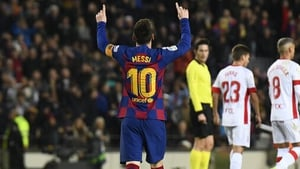 Messi's 35th La Liga hat-trick moves the recently crowned Ballon d'Or ahead of Cristiano Ronaldo's tally
