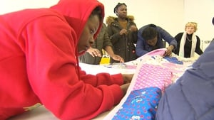 Mosney residents attend quilt-making classes