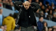 Pep Guardiola cut a frustrated figure in City's loss to United on Saturday