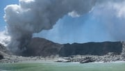 Smoke first engulfed the top of the crater and then the entire island (Pic: Michael Schade)