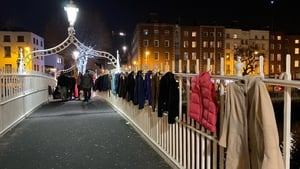 Dublin City Council says the coats were removed from the Ha'penny Bridge for health and safety reasons
