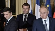 French President Emmanuel Macron hosted the first face-to-face meeting between the Ukrainian and Russian presidents
