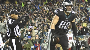 Philadelphia Eagles' Zach Ertz scored two touchdowns