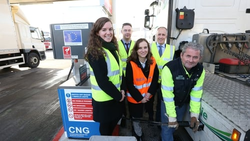 Representatives from the European Commission at Ireland's first publicly-accessible, fast-fill CNG station at Dublin Port premises