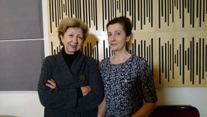 Poetry Programme host Olivia O'Leary with poet Martina Evans