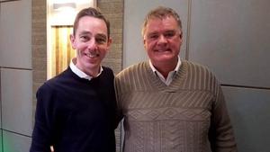 Ryan Tubridy with Dr Pádraig Ó Reachtagáin.