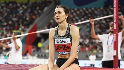 Lasitskene at the World Athletics Championships in September