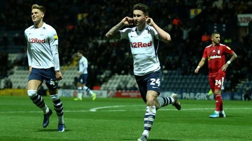 Maguire celebrates his goal