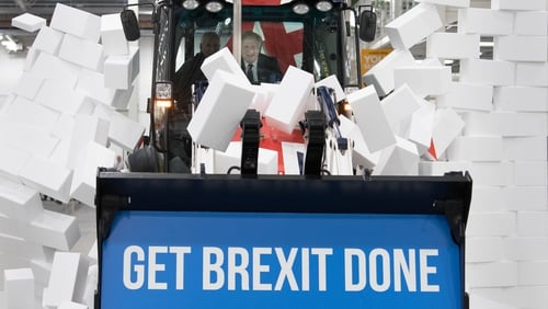 Can he fix it? Boris Johnson does his best Bob the Builder impersonation on the UK election campaign trail.