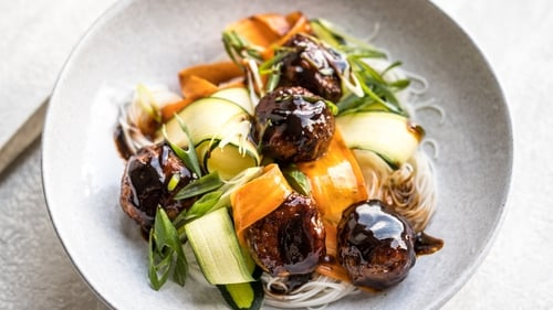 Turkey meat is a great low-fat alternative to pork or lamb when it comes to meatballs and is the perfect partner for the Asian flavours in this recipe.