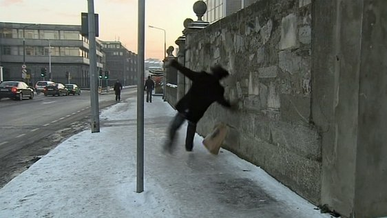 Man Slips on Ice (2010)
