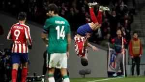 Felipe celebrates Atletico Madrid's second in fine style