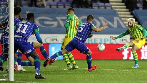 Charlie Austin equalises for West Brom against Wigan